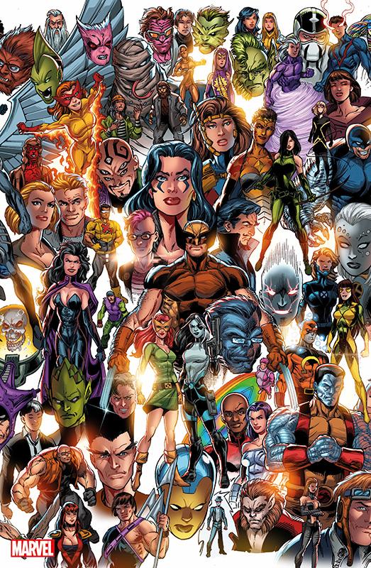 X-Men 4 Panorama auf 555 Ex. lim. Panorama  Variant