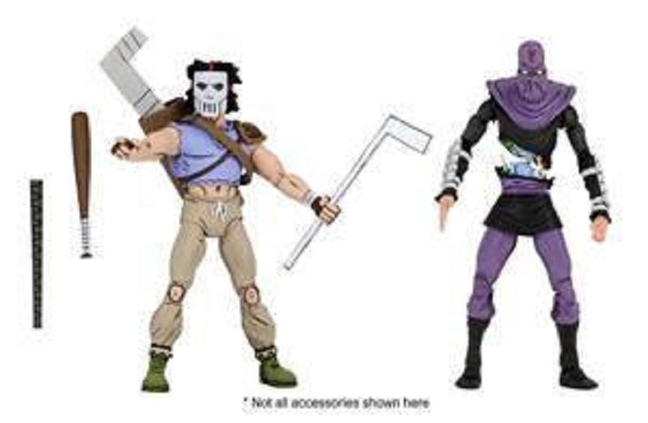 Teenage Mutant Ninja Turtles Actionfiguren Doppelpack Casey Jones & Foot Soldier 18 cm