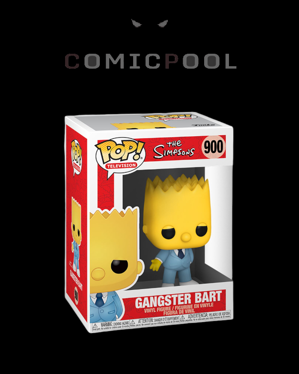 Simpsons POP! Animation Vinyl Figur Mafia Bart 9 cm