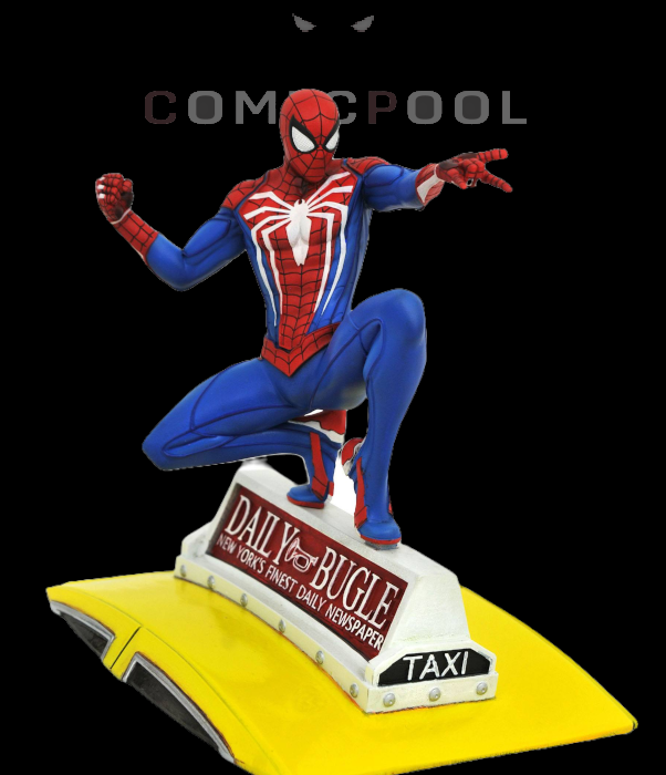 Spider-Man 2018 Marvel Video Game Gallery PVC Statue Spider-Man on Taxi 23 cm