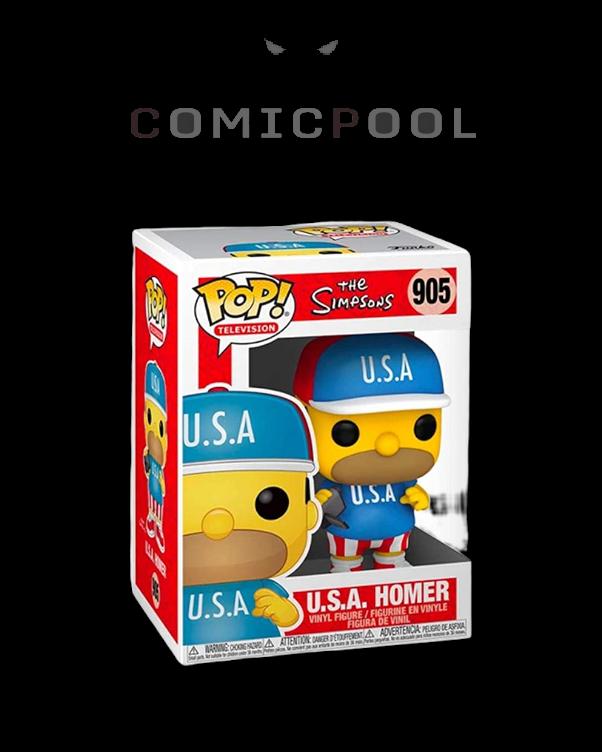 Simpsons POP! Animation Vinyl Figur USA Homer 9 cm