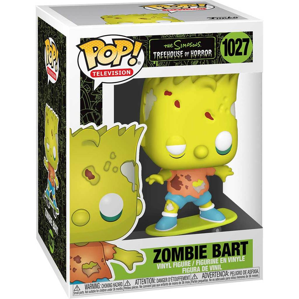 Simpsons POP! Animation Vinyl Figur Zombie Bart 9 cm