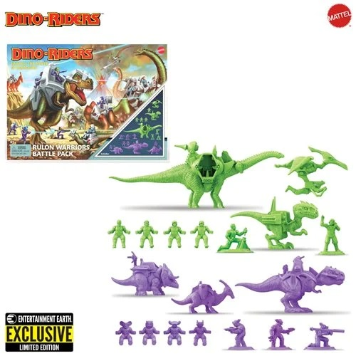 Dino-Riders Rulon Warriors Battle Pack – Entertainment Earth Exclusive
