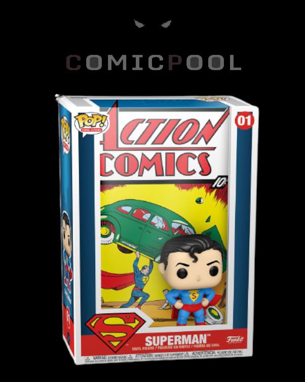 DC Comics POP! Comic Cover Vinyl Figur Superman Action Comic 9 cm