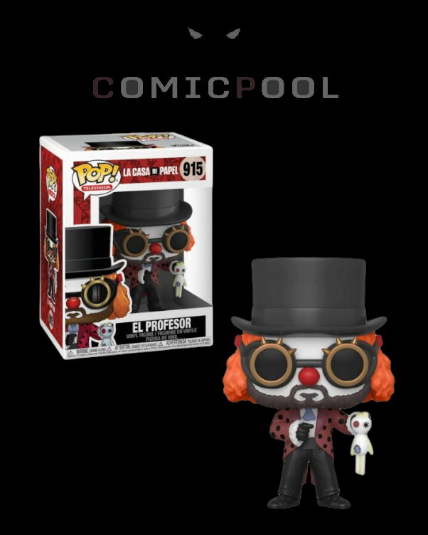 Haus des Geldes POP! TV Vinyl Figur Professor O Clown 9 cm