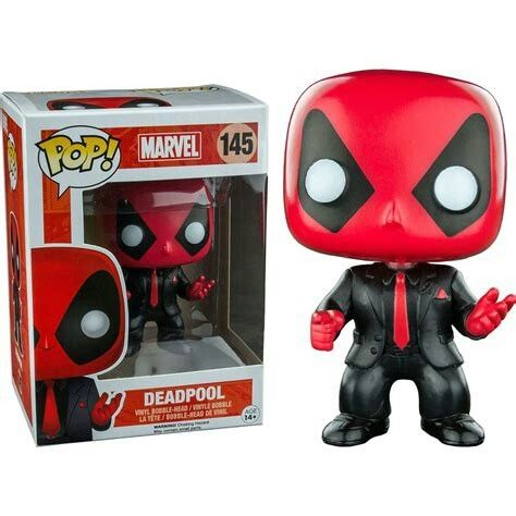 Funko Pop! Marvel – Deadpool in Suite – PX Exclusive Sticker 9cm