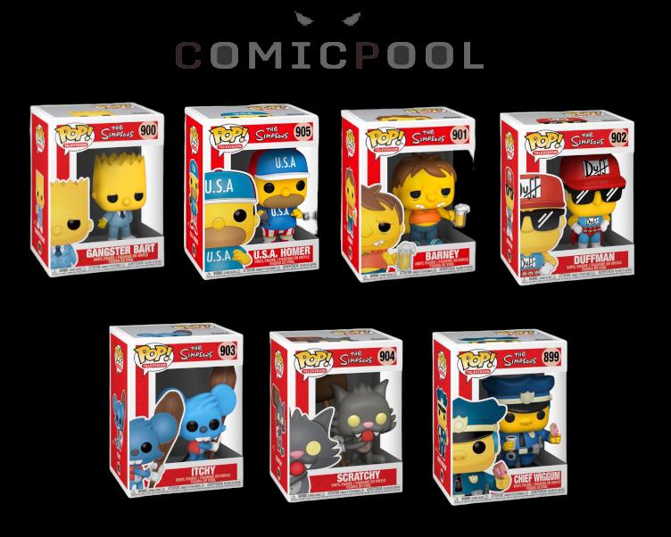 Simpsons POP! Animation Vinyl Figuren Set